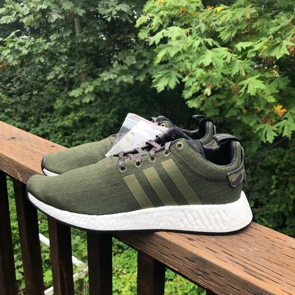Adidas zapatos NMD R2 poshmark de oliva